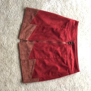 Urban Outfitters Zip Front Suede Skirt